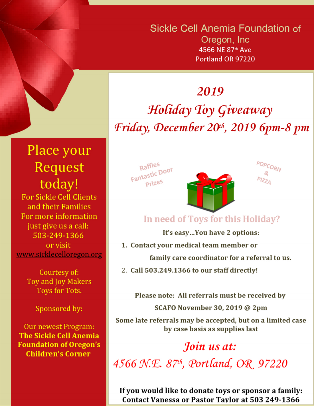 Holiday Toy Giveaway 2019!